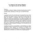 Le commerce des valeurs éthiques : les règles du jeu du café solidaire